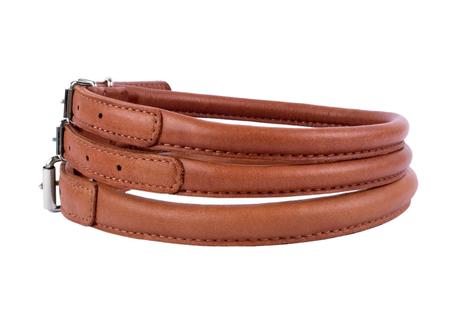 Etsy Rolled Leather Dog Collar