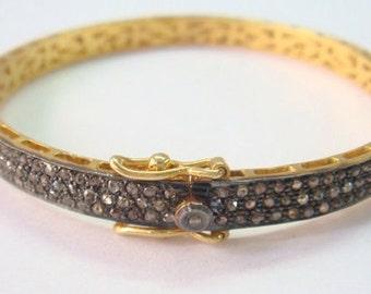 Victorian/estate style 6.80 cts Rose cut Diamond Bracelet 1 pcs world wide free shipping 25% discount.