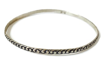 Vintage Beau Sterling Silver Bangle Bracelet