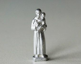 Saint Anthony from Padua vintage miniature, sacred image from Padua Sanctuary Italy
