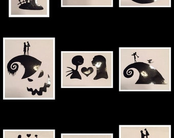 Nightmare Before Christmas Inspired  Decals