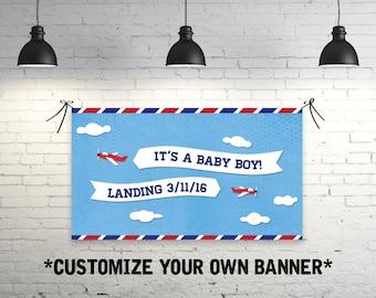 Airplane Baby Shower Banner