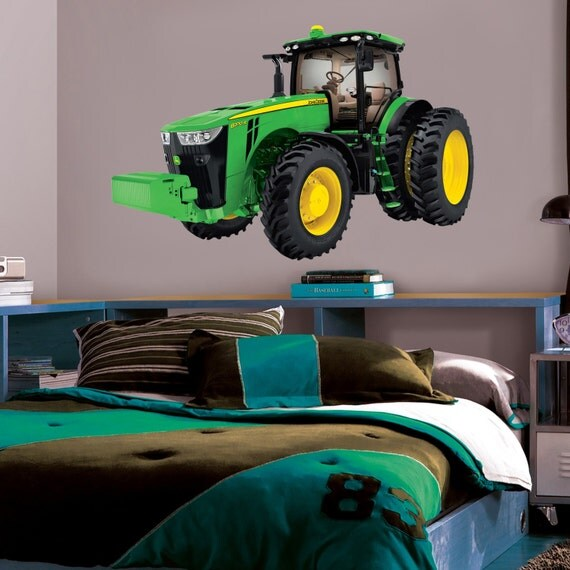 John Deere Wall Mural : John deere tractor decal wall sticker home decor by