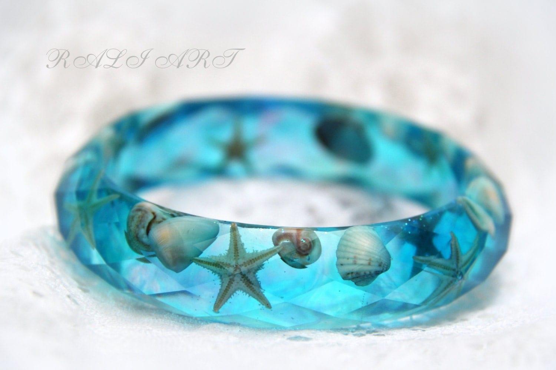 Resin Bracelet Seashell Jewelry Summer Bracelet Mermaid