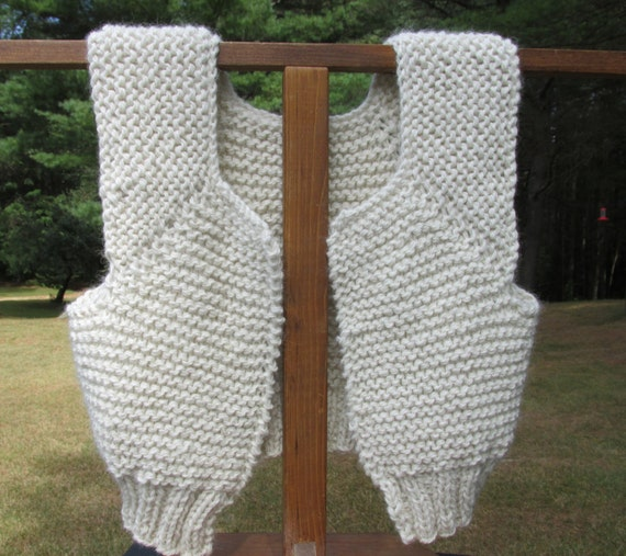 White Alpaca Knitted Vest
