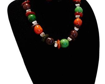 Harvest Colored Tagua Necklace Set