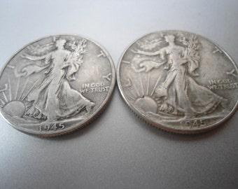1945 Walker Liberty  Half Dollar Coin,Silver Coin,Old coin,Vintage Coin, Collectable Coin,90 percent Silver Coin