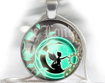 """Vintage Steampunk fairies silhouettes - bottle cap images - 1'' circles, 25mm, 30mm, 1.25"""", 1.5"""" for Jewelry Making, BUY 2 GET 1 FREE"""