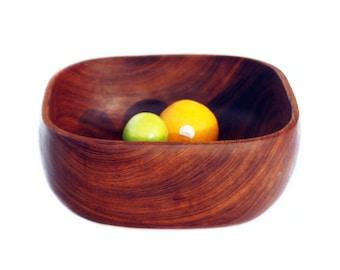 Large teak fruit bowl
