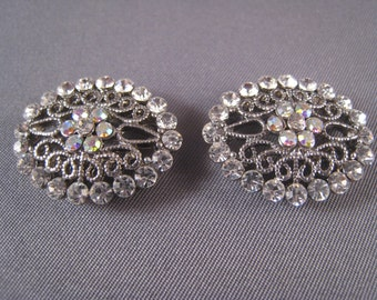 Two (2) Double Hole Crystal Spacer Beads