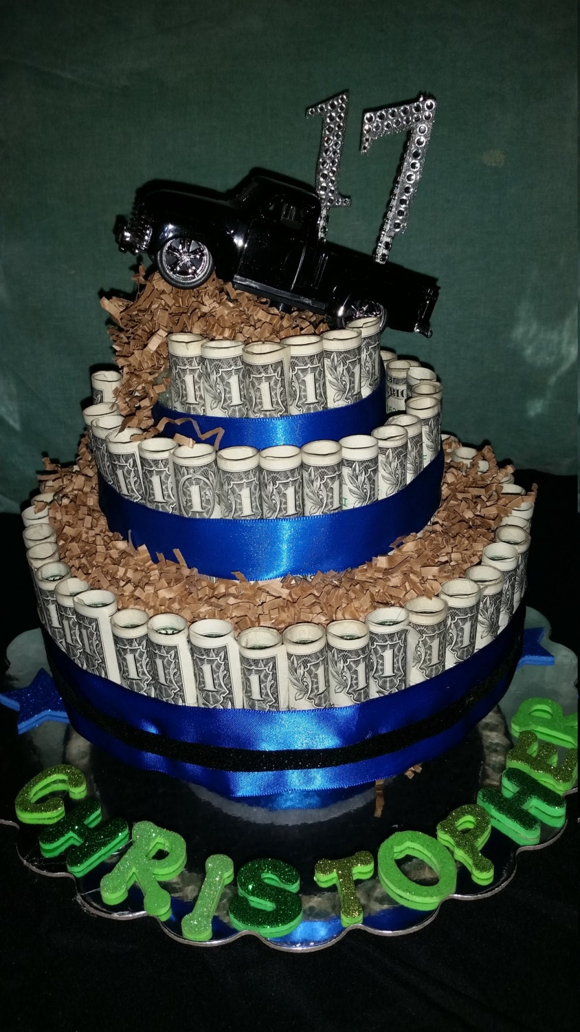 Real Money Cake For A Chevy Truck Fan Great Graduation Gift