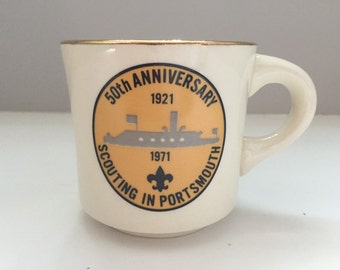 Boy Scout 50th Anniversary Scouting in Portsmouth Commemorative Mug 1971