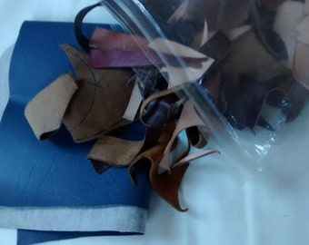 1 pound bag of leather scrap
