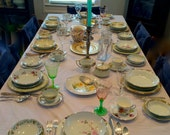 Service for 8 REMIXED VINTAGE CHINA (Amazing 62 Pieces), Thanksgiving, Christmas, Mismatched
