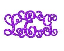 Interlocking Vine Monogram Applique Machine Embroidery Font Upper and Lower Case Digitized -Instant Download-3,4,5 inch