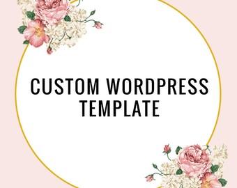 Custom Wordpress Template - Custom Blog Design - One of A Kind Blog Template - Custom Blog Template - Wordpress Theme