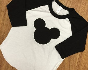 Mickey Mouse Raglans. Any color available.