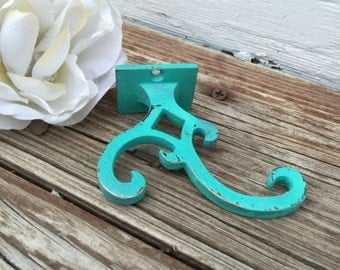 Hook / Metal Hook / Metal Hanger / Wall Decor / Shabby Chic Hook