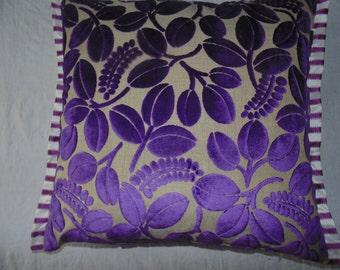 Designers Guild Velvet Fabric Calaggio Violet  Cushion Cover / pillow