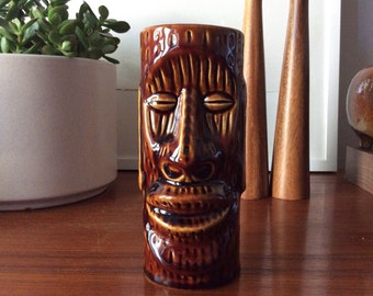 Cool Vintage Tiki Mug Kahiki Supper Club Ohio Collectible Hawaiian Bar Tropical Retro