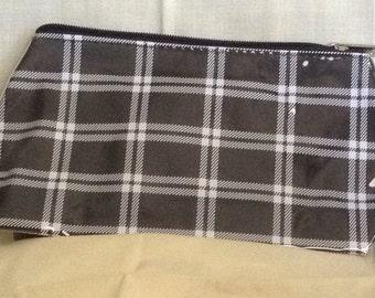 Unique Retro Black Checked Design Cosmetic Bag