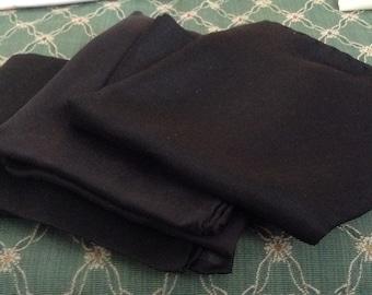 3 Pure Silk Black Handkerchiefs Italy