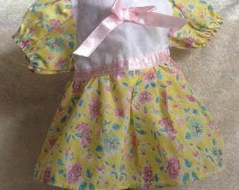 Eastet Yellow & Pink Floral Doll Dress