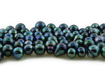 Wholesale Tahitian Pearls, Blue, AA quality, sizes 8 to 12 mm (RF 014)
