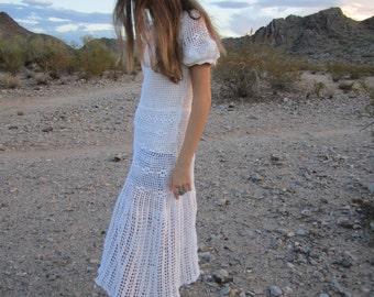 Vintage 60s Crochet Lace Dress