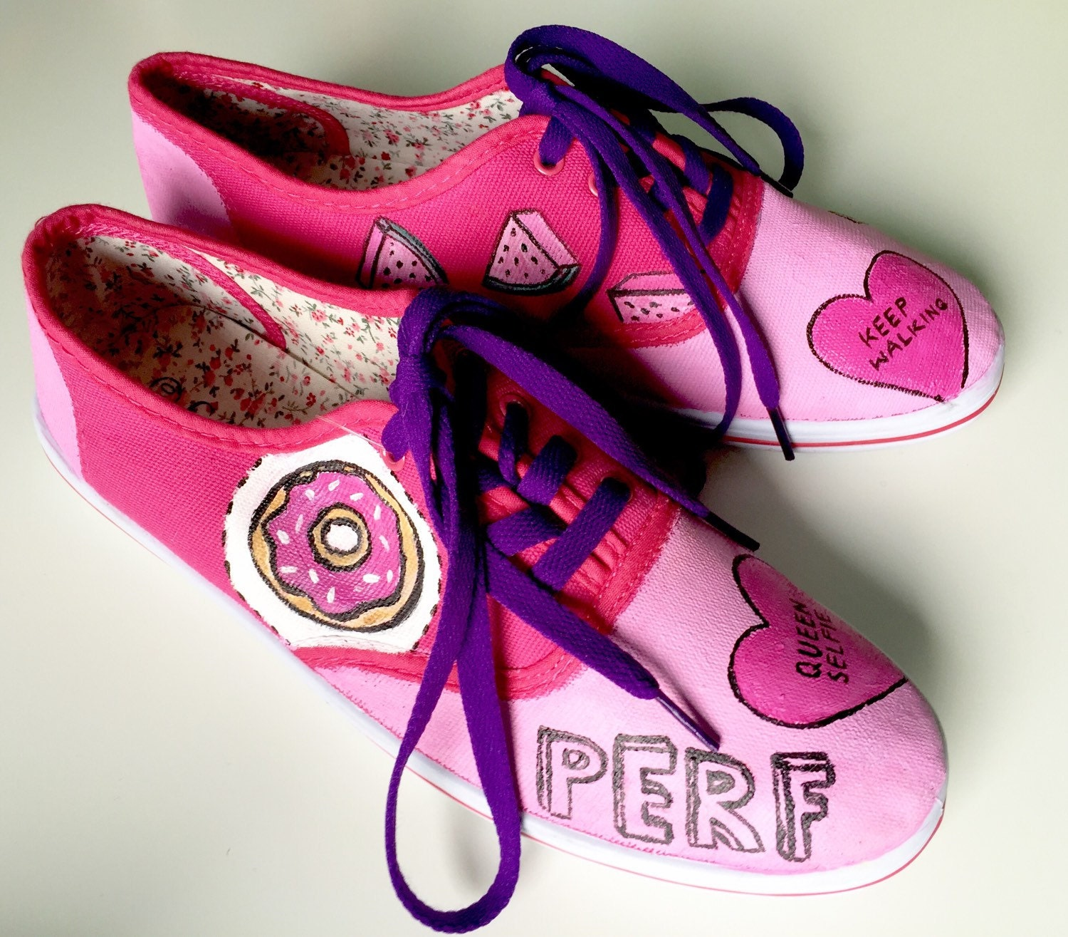 Tumblr Stickers Hand Painted Shoes Sneakers By KingaSyrek