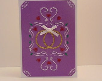2 Gold Bands Wedding Card