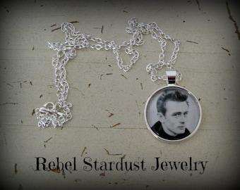 James Dean photo necklace