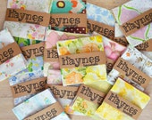 Vintage Sheets. 20 Vintage Sheet Charm Pack. 5 x 5 Fabric Squares. Quilting Bundle. Nursery. Shabby Chic. Quilt Squares. Vintage Fabric