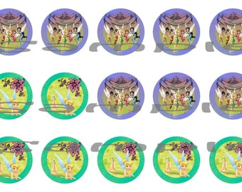 Tinkerbell Bottle Cap (1 inch) Images