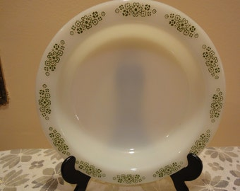 Anchor Hocking Placesetter Collection Springwood/Green and White Bowl/Vintage Bowls/Vintage Kitchen/Anchor Hocking