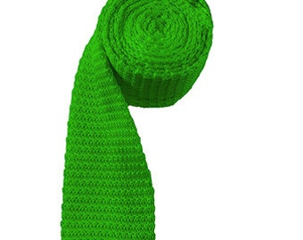Irish Green Knit Necktie