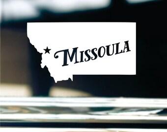 Missoula Montana Sticker For Car Window, Bumper, Or Laptop