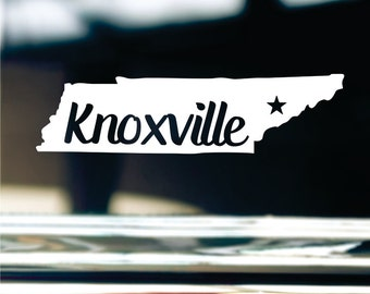 Knoxville Tennessee State Sticker For Car Window, Bumper, Or Laptop