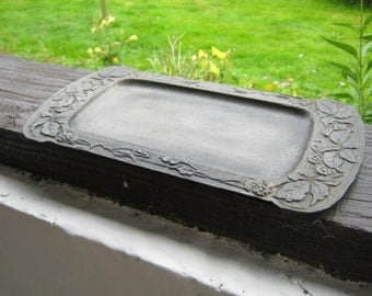 French Vintage Art Nouveau Pewter Tray.