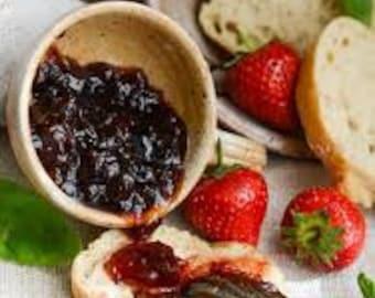 Organic Strawberry Basil and Balsamic  Jam 8 oz