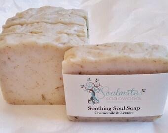 Soothing Soul Soap  - Chamomile & Lemon Shea Butter Soap