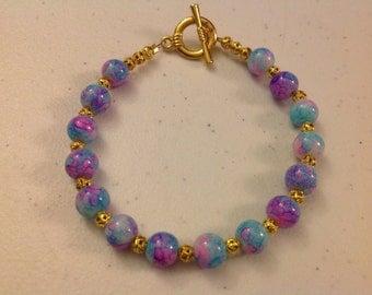 Gold Tone Beaded Bracelet