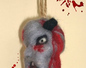 FELTED ZOMBIE HEAD