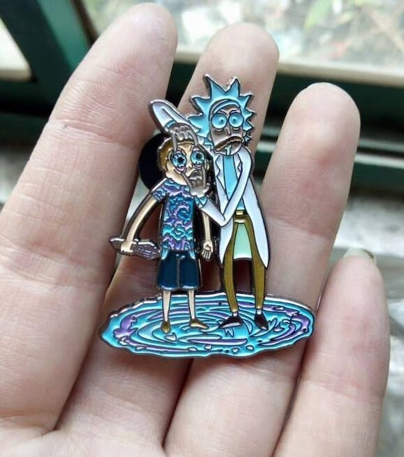 """Items similar to Rick and Morty Pin """"Open Your EYES Morty ..."""