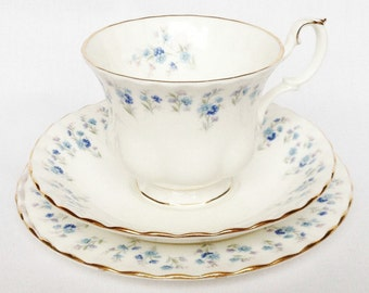 Royal Albert Memory Lane trio - cup, saucer and tea plate