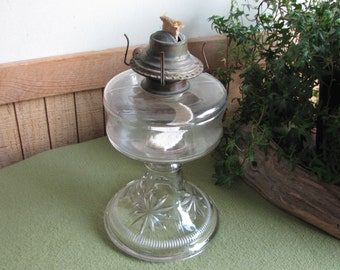 Vintage Kerosene Lamp Hurricane Stars Lighting Rustic Farmhouse Home Decor