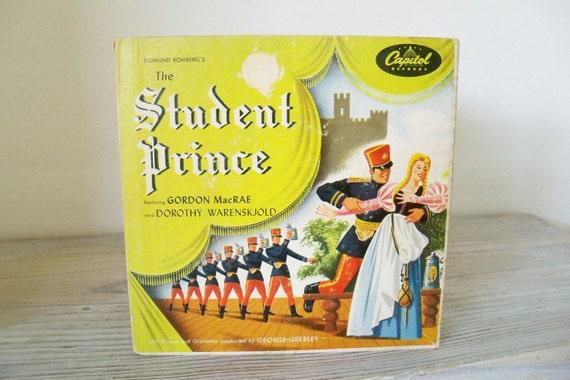 Vintage Record Set The Student Prince Red Vinyl 45s Gordon MacRae Dorothy Warenskjold Sigmund Romberg  Dorothy Donnelly Capitol Records 1953