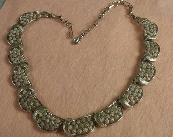 Silver Tone Signed Coro Necklace
