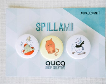 Spillami - Illustrated Pins
