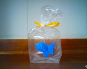 RESERVED for MissLizaAnne Little Blue fish - The Ultimate Pet, Fish in a bag, vegan.